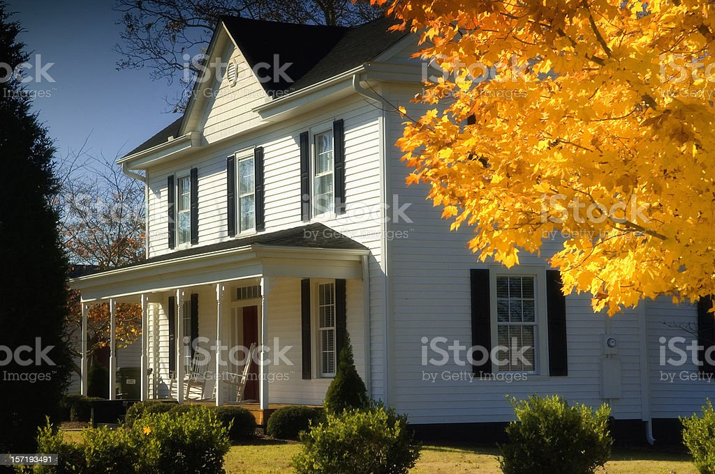 19th Century Farm House stock photo