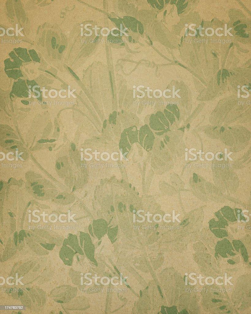 19th Century floral paper design stock photo