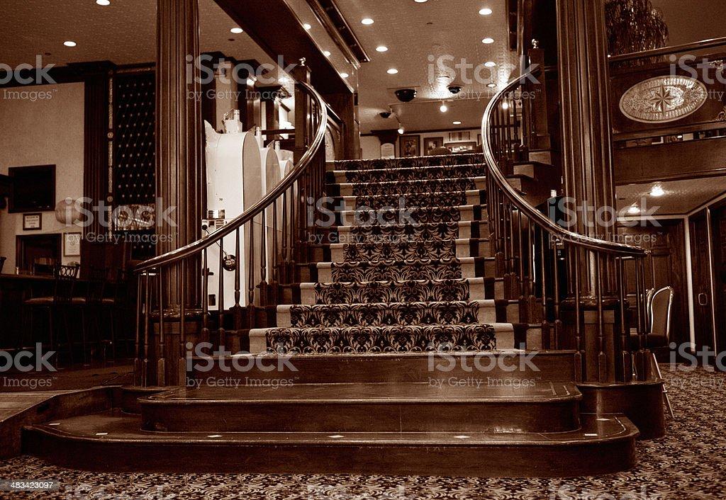 19th Century Grand Staircase stock photo