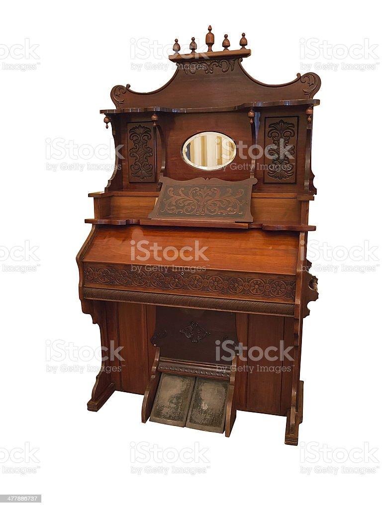 Século XIX Cravo, um órgão Instrumento musical isola foto de stock royalty-free