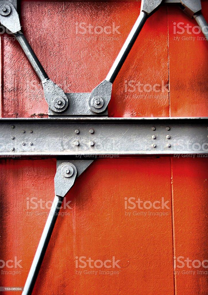 19th century iron construction detail stock photo