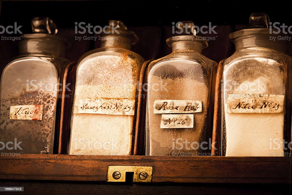 19th Century Medicines royalty-free stock photo