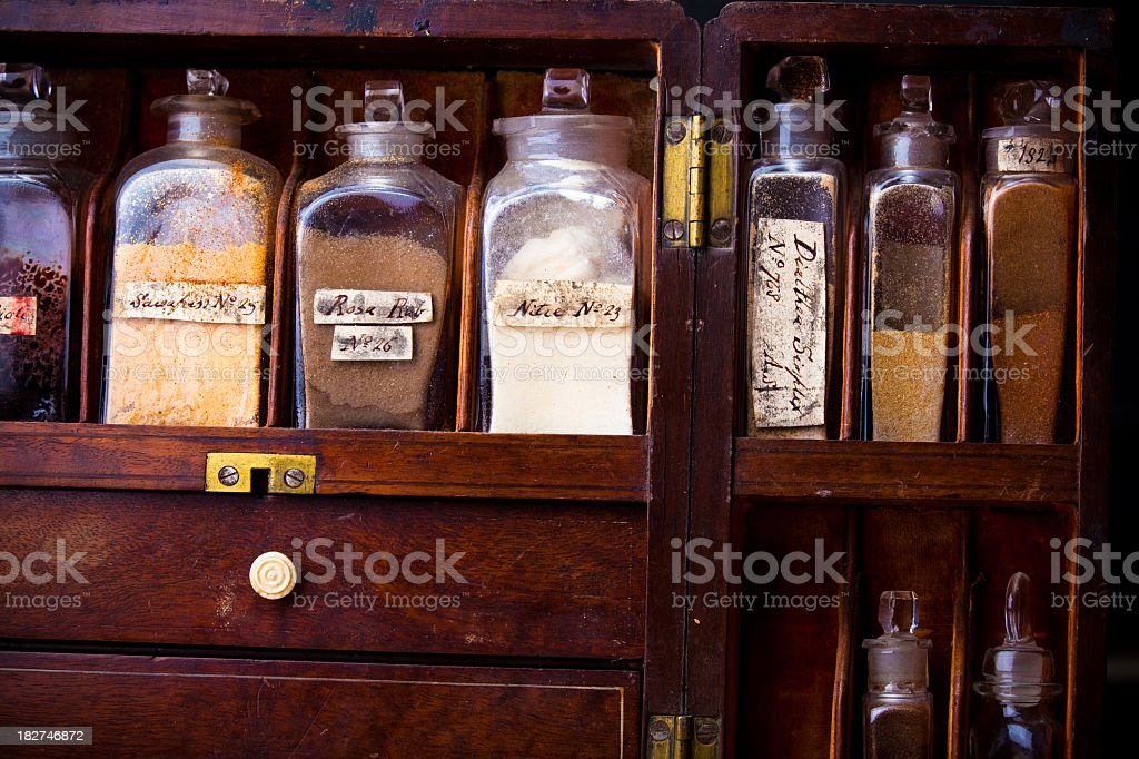 19th Century Medicines royalty-free stock photo