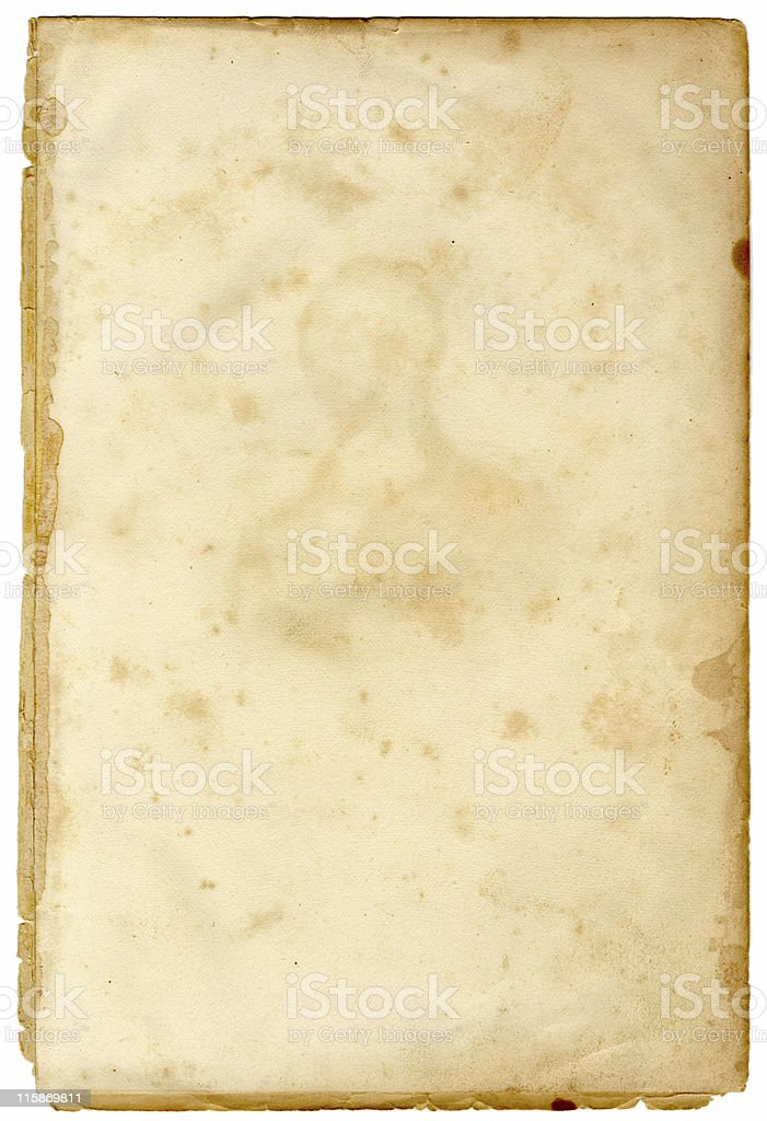 19th Century stained page stock photo