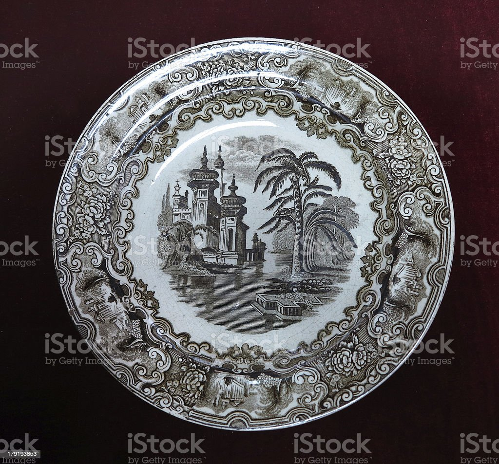 Século XIX vintage velha placa com Pintura isolado sobre de Pentecostes foto de stock royalty-free