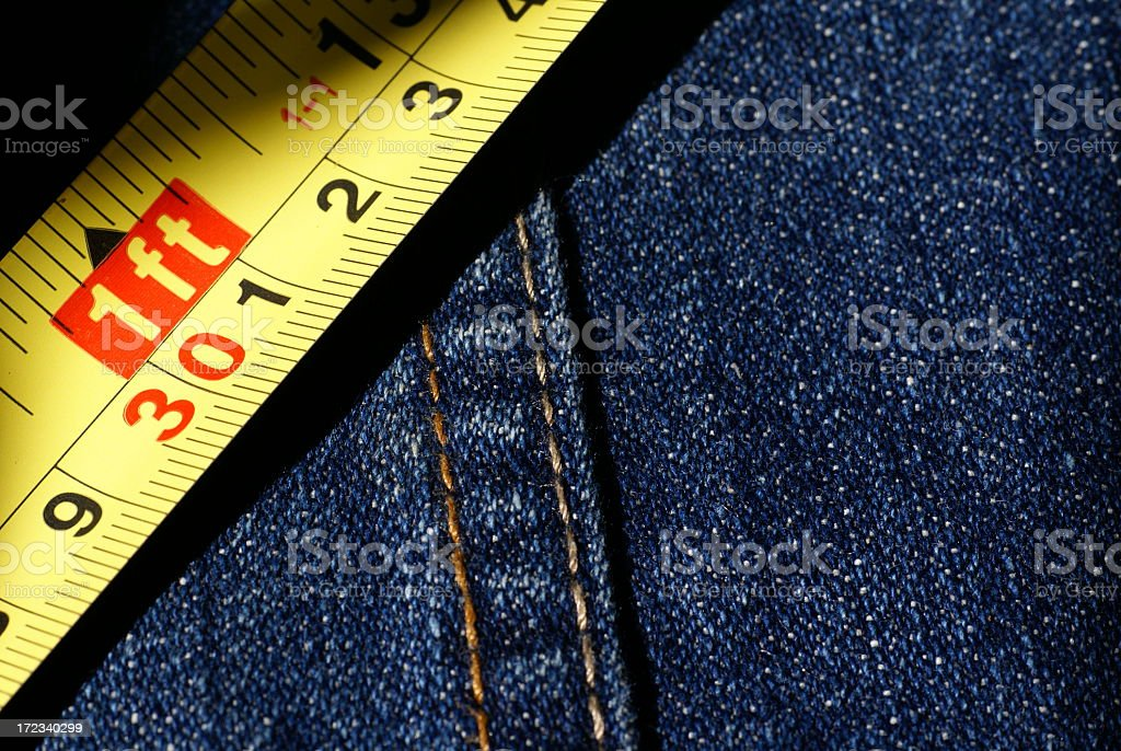 1Ft of Denim royalty-free stock photo