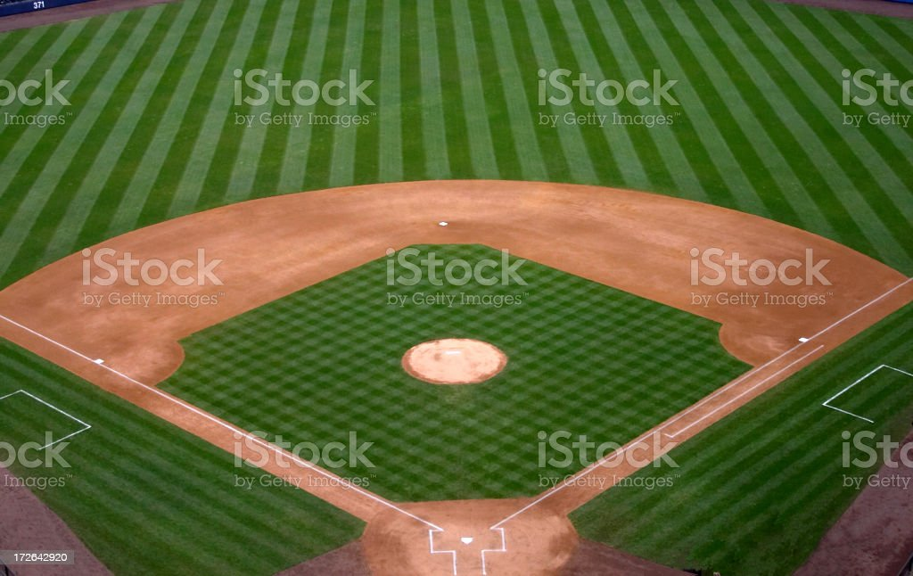 1st, 2nd,3rd,Home - Baseball Diamond stock photo