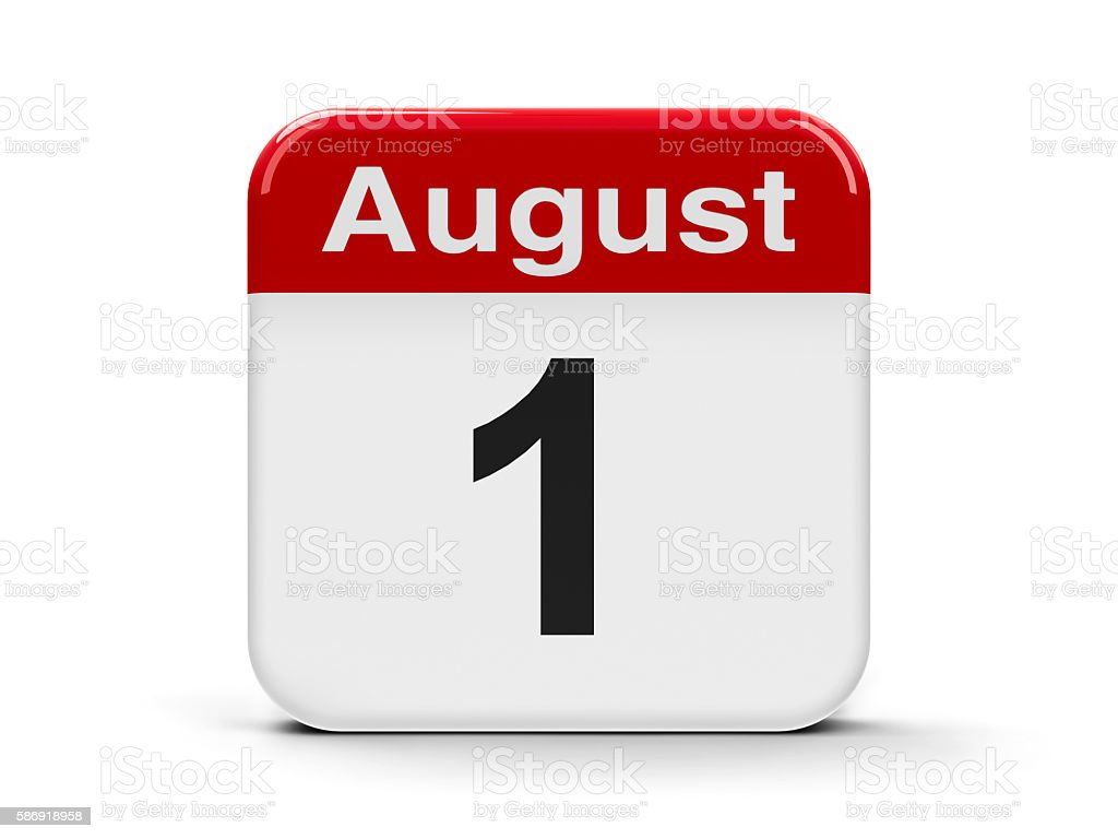 1st August stock photo