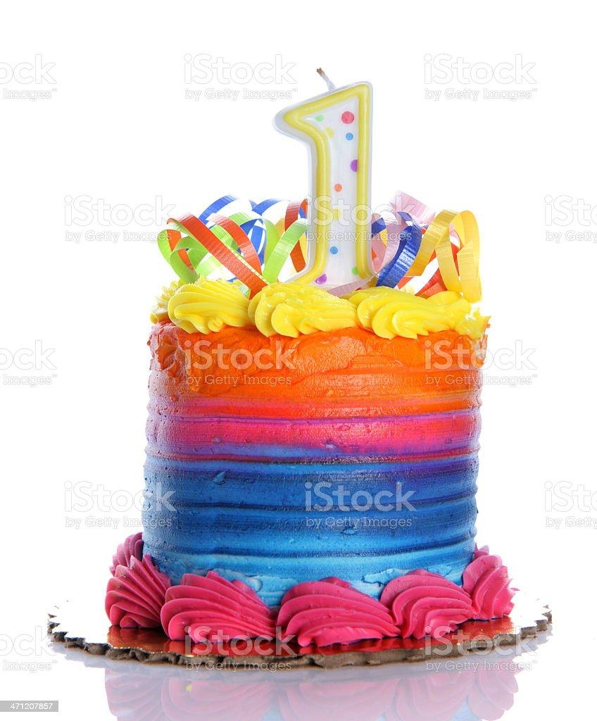 1st Birthday Cake stock photo