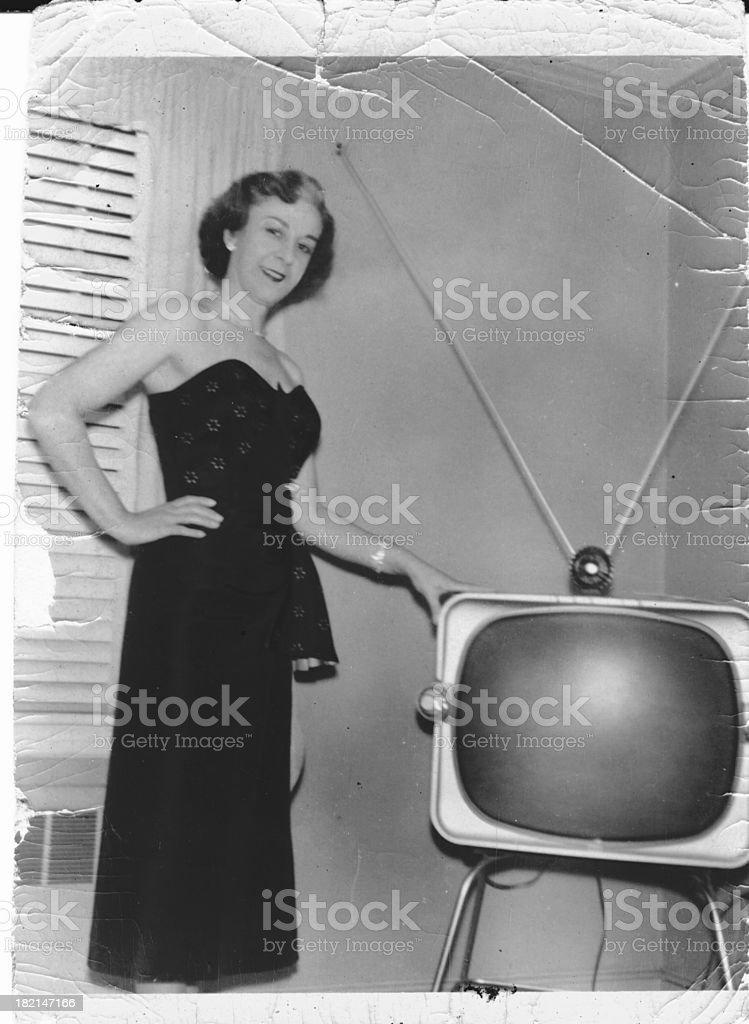 1st TV stock photo