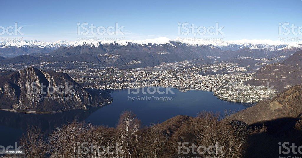 2013-Lake of Lugano stock photo