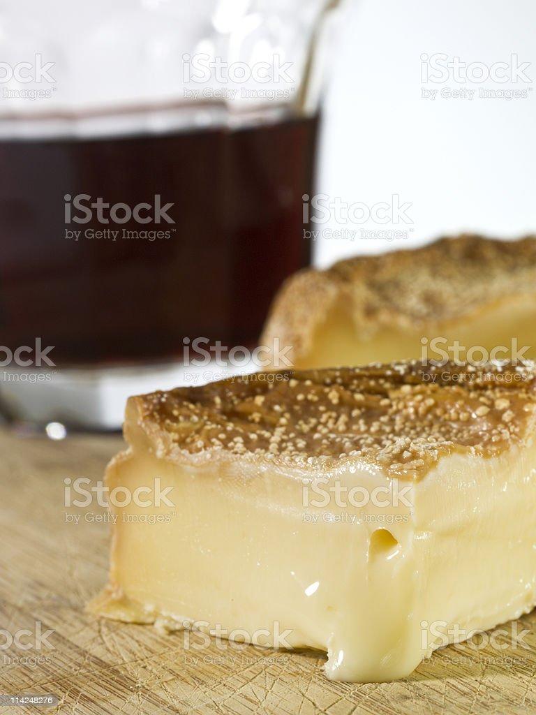 Époisses de Bourgogne French cheese stock photo