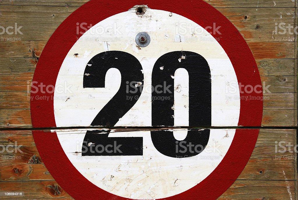 20mph royalty-free stock photo