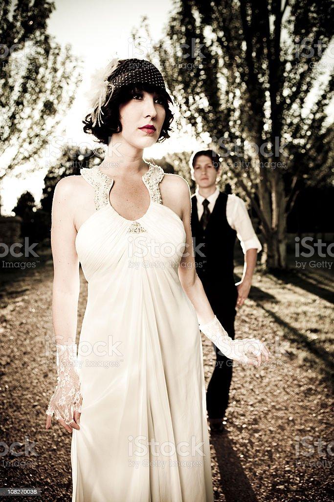 20s style bridal portrait royalty-free stock photo