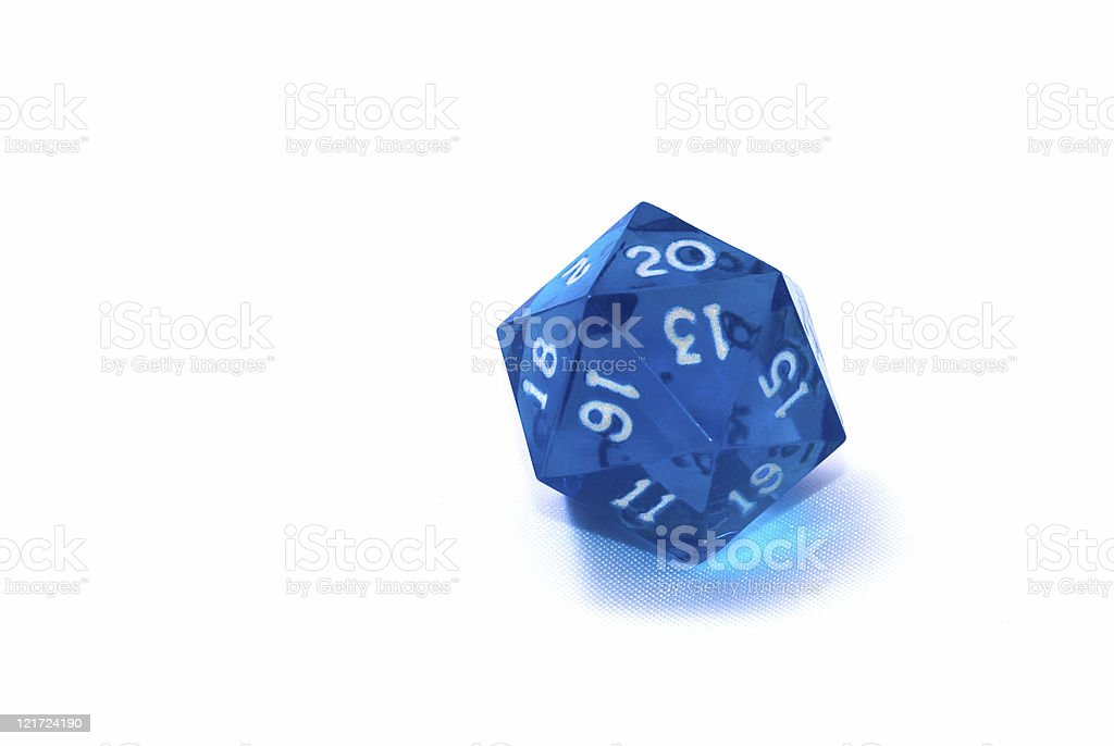 20-sided Die royalty-free stock photo