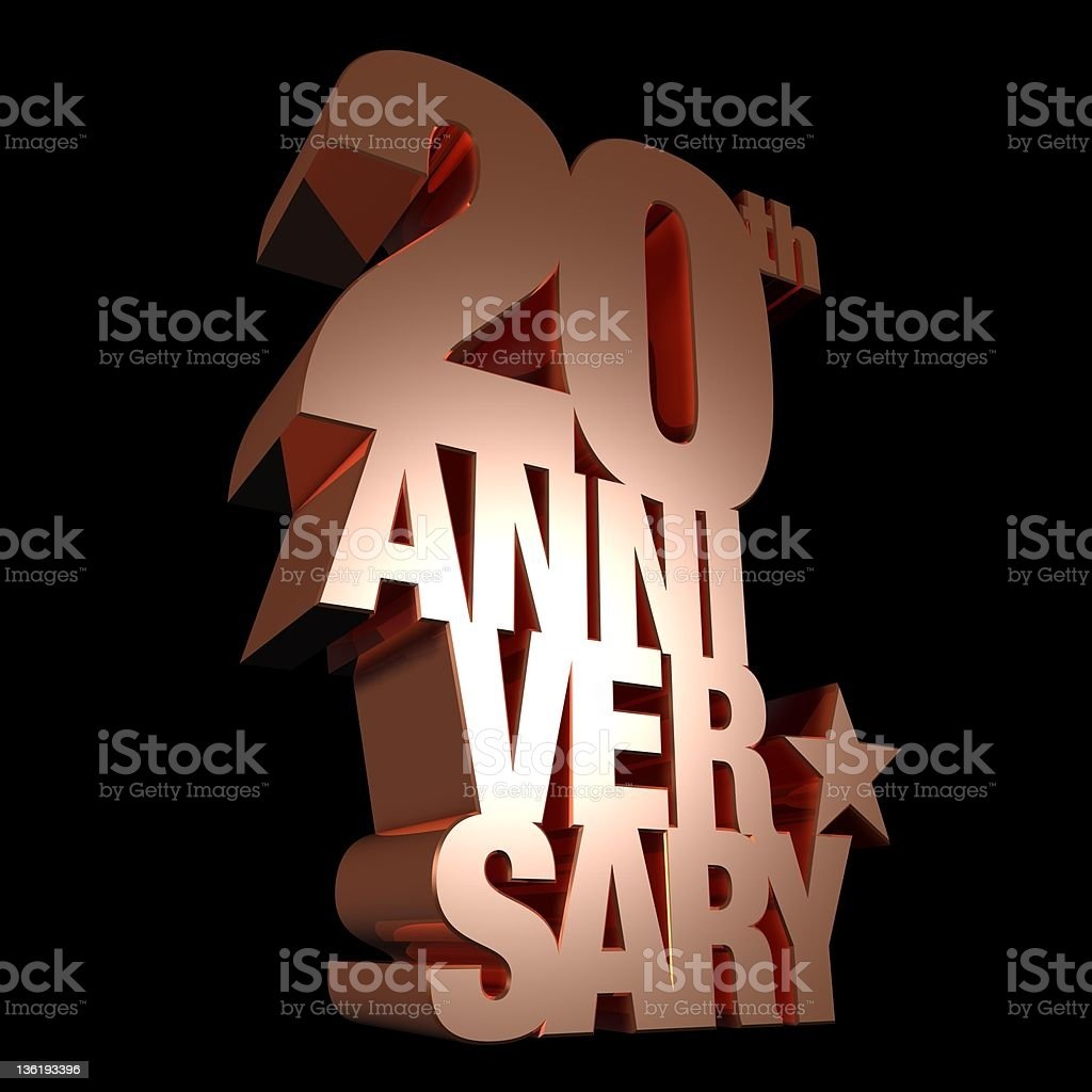 20th anniversary metal stock photo