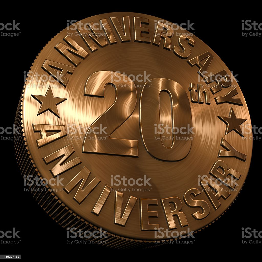 20th anniversary metal royalty-free stock photo