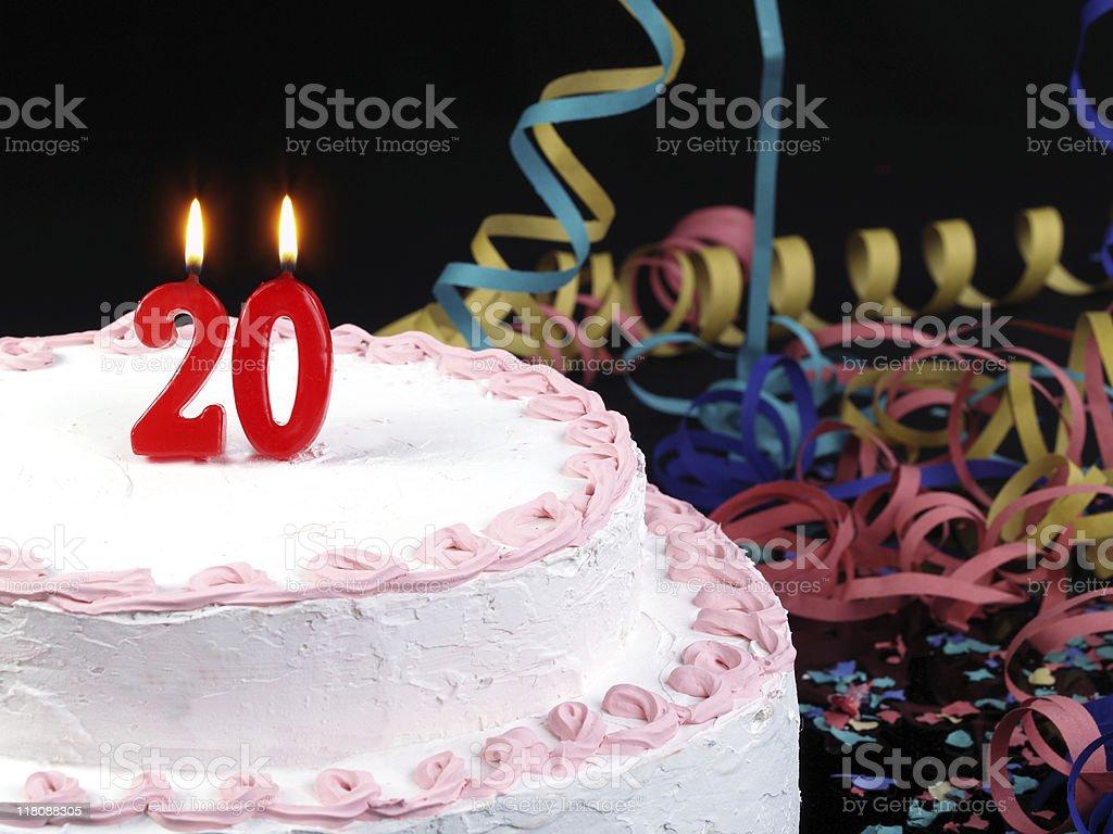 20th. Anniversary royalty-free stock photo