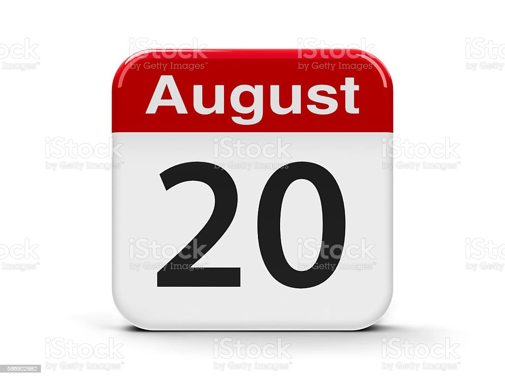 20th August stock photo