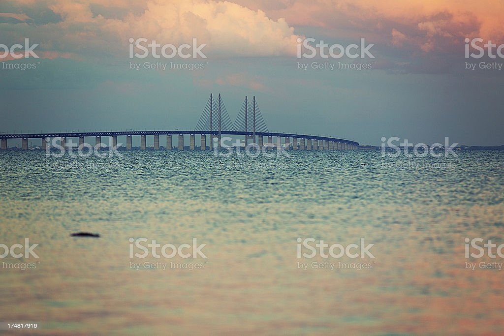 Öresund bridge royalty-free stock photo