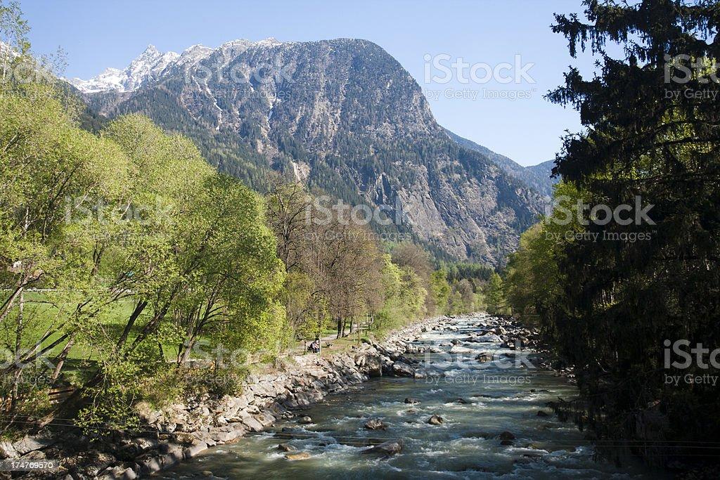 Ötztaler Ache, Austria stock photo