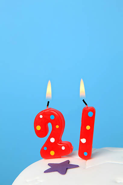 21st Birthday Candles Stock Photo
