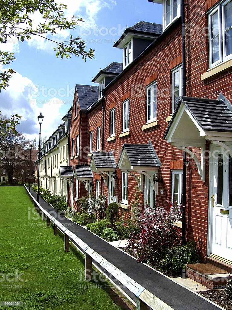 21st Century Terraced Homes royalty-free stock photo