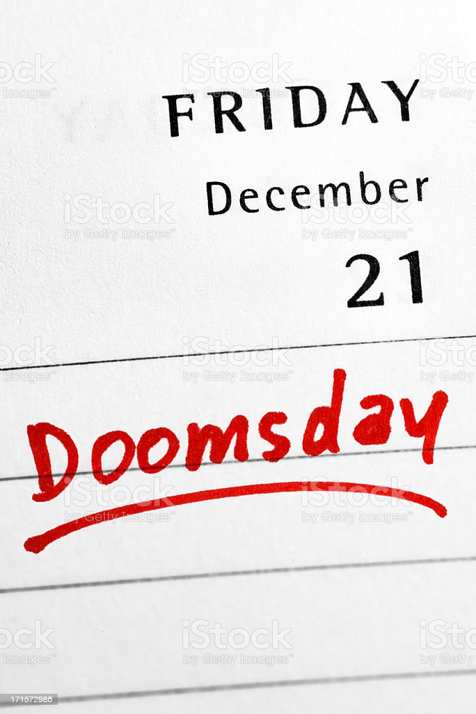 21st December 2012 - End of the World stock photo