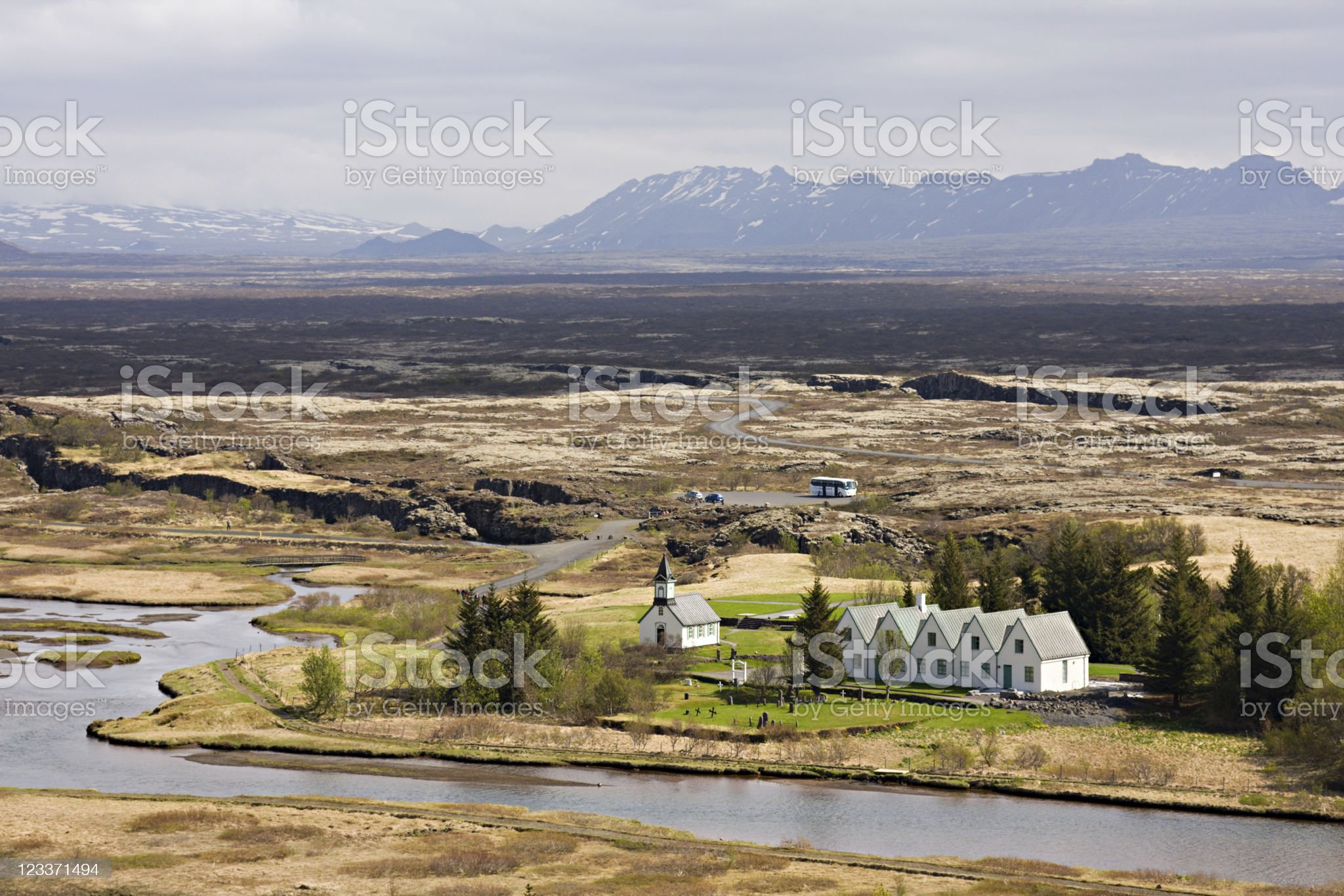 Þingvellir, Iceland royalty-free stock photo