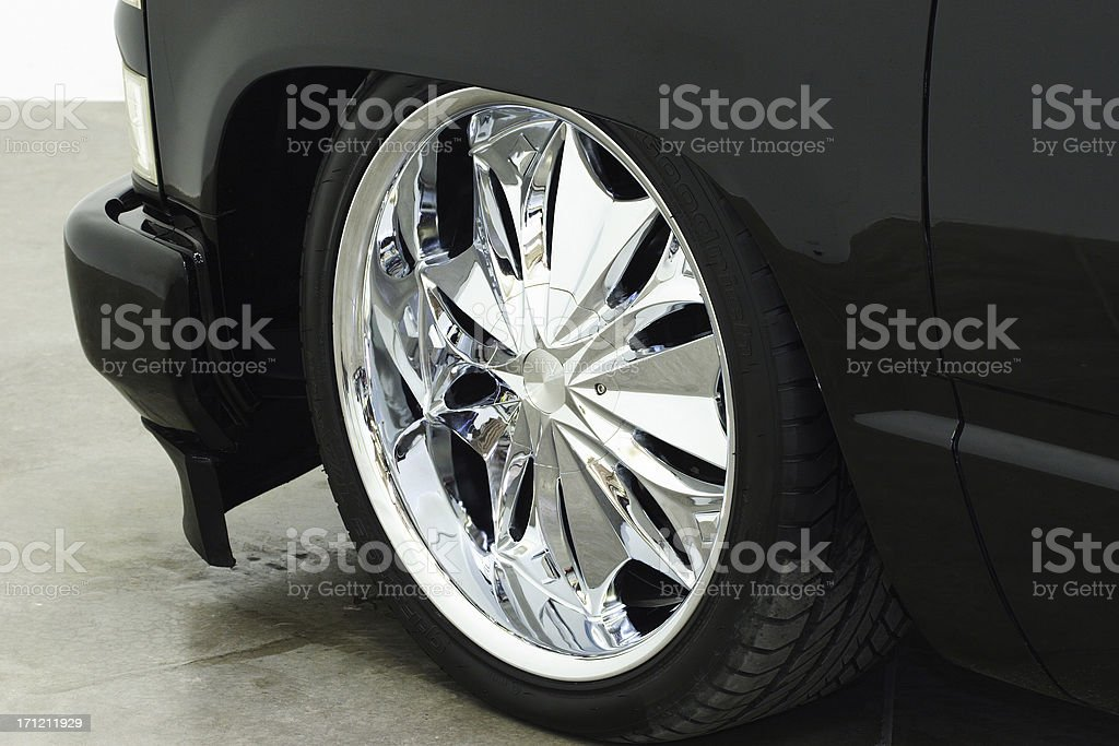 22-inches of Bling! stock photo