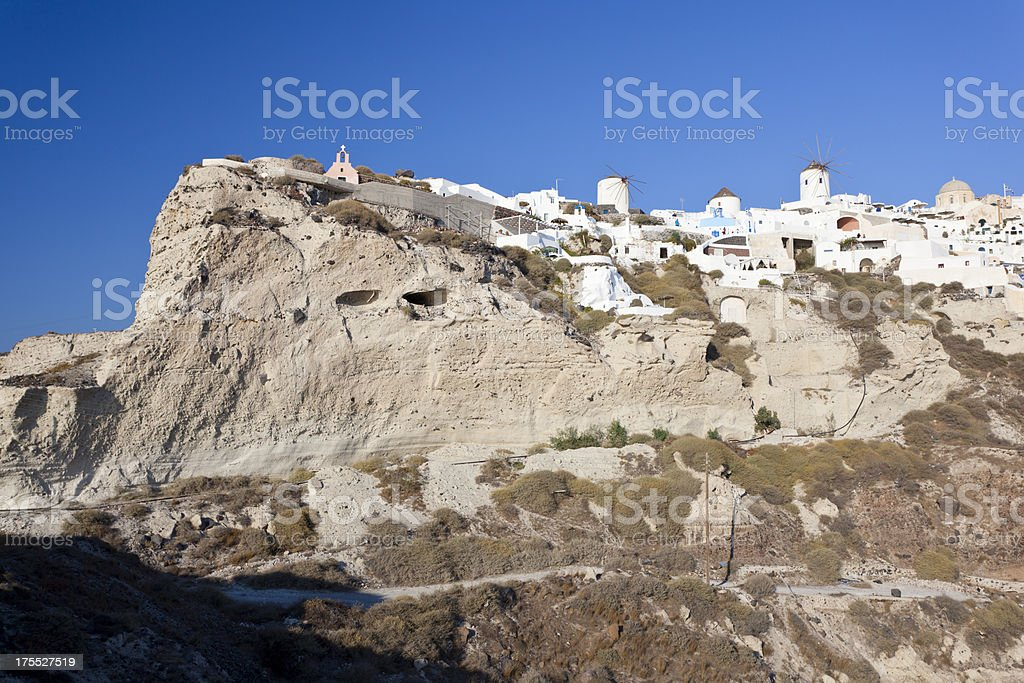 Oía Cliff, Santorini stock photo