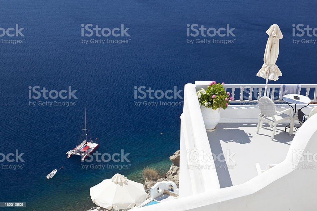 Oía View, Santorini royalty-free stock photo