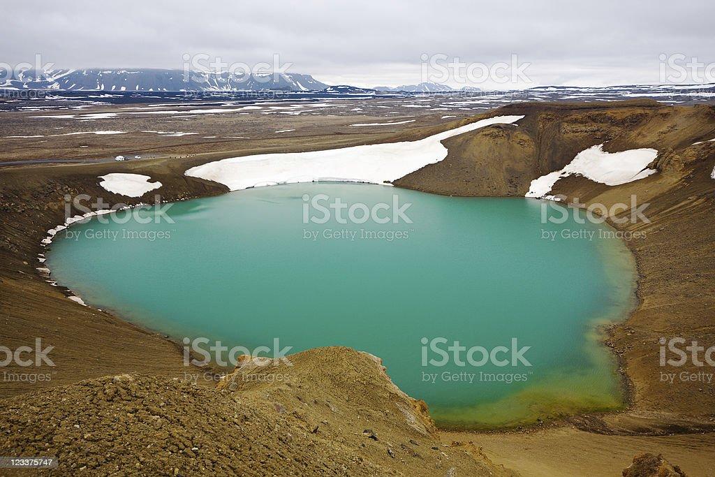 Víti Crater Lake, Iceland stock photo