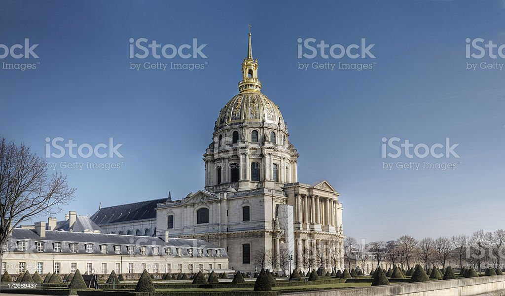 Hôtel des Invalides, Paris royalty-free stock photo