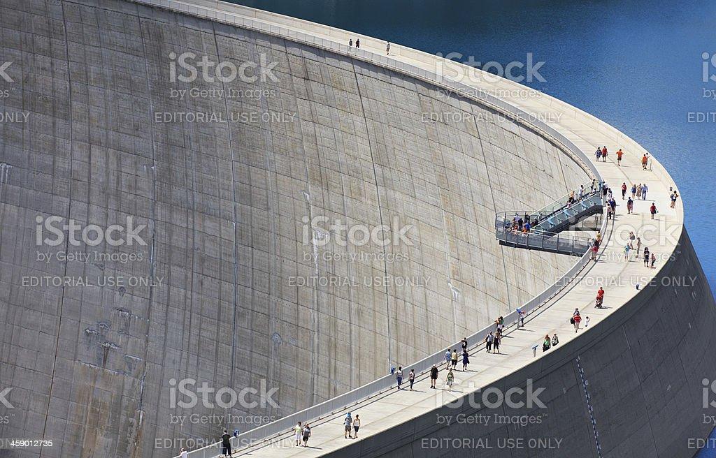 Kölnbrein Dam stock photo