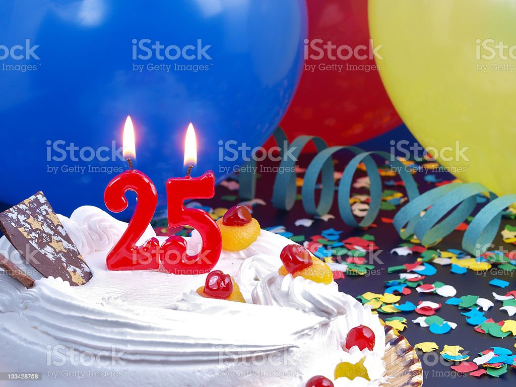 25th. Anniversary stock photo