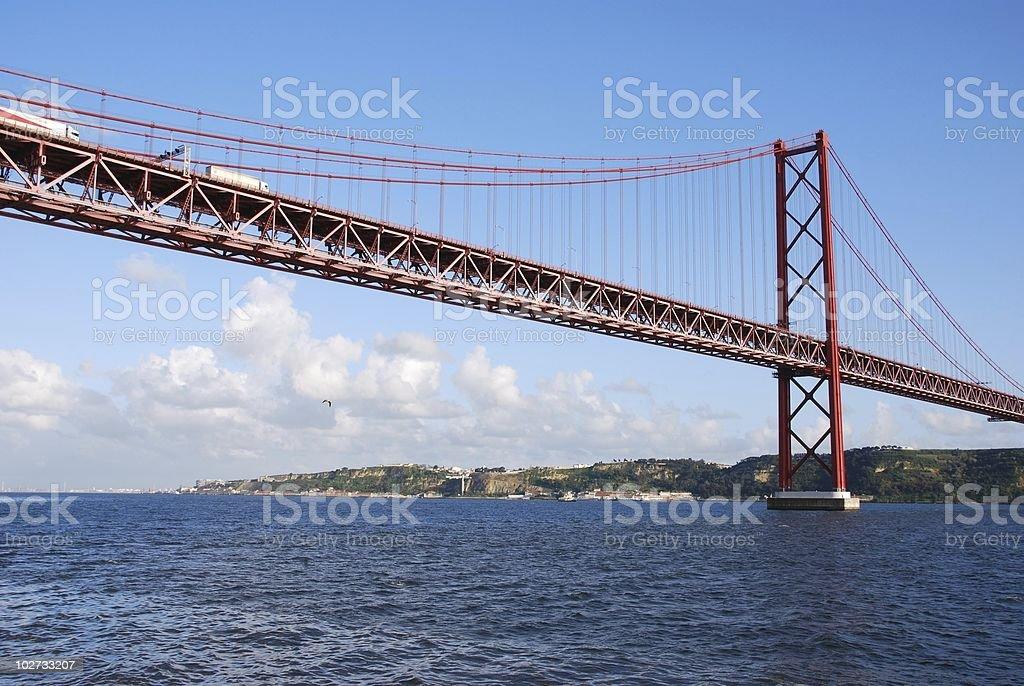 25th April bridge in Lisbon royalty-free stock photo