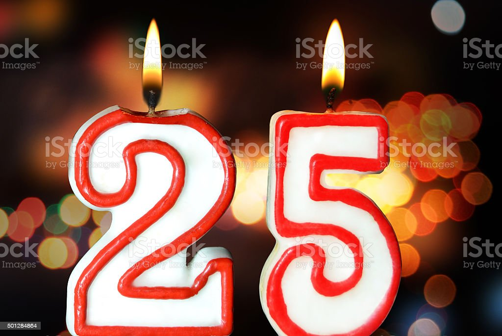 25th birthday stock photo
