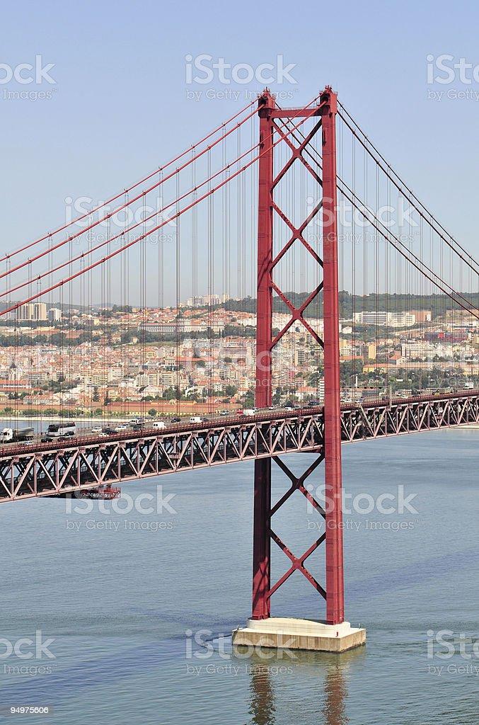 25th of April Bridge royalty-free stock photo