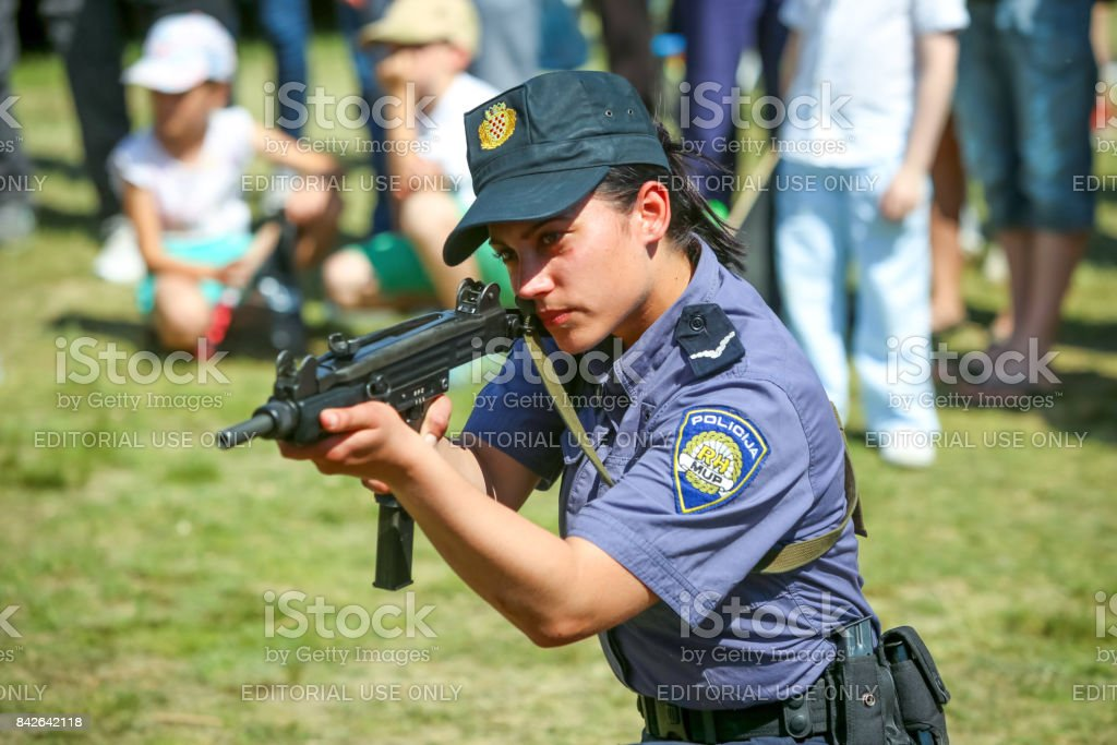 26th anniversary of the Croatian Armed Forces stock photo
