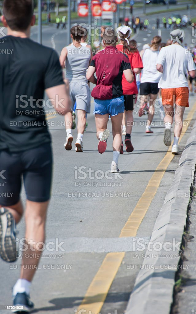 27th Belgrade Marathon stock photo