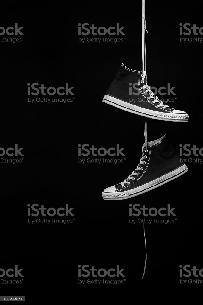 2Black Sneakers stock photo