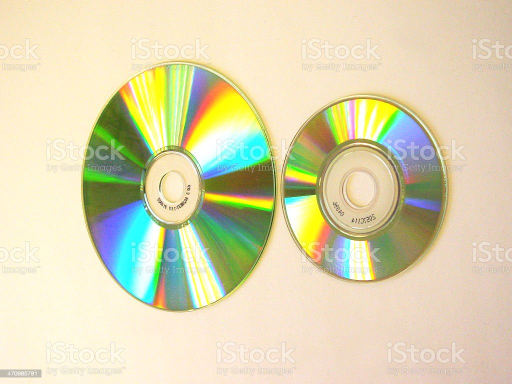 2CDs maxi and mini 3 royalty-free stock photo