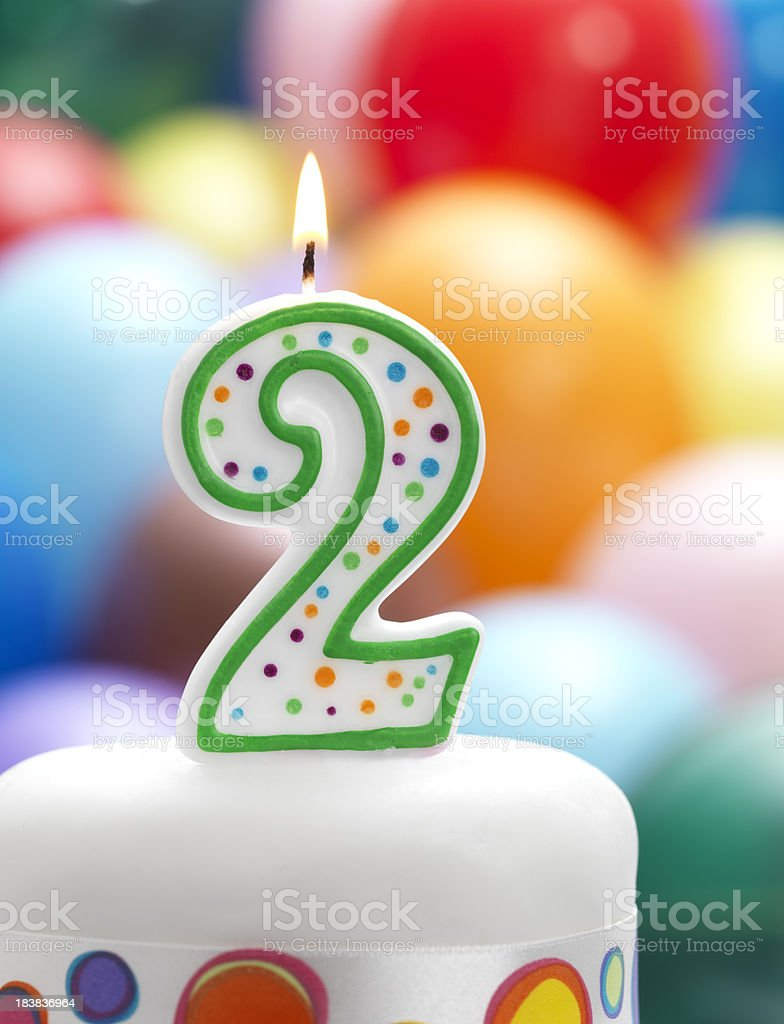 2nd birthday party royalty-free stock photo