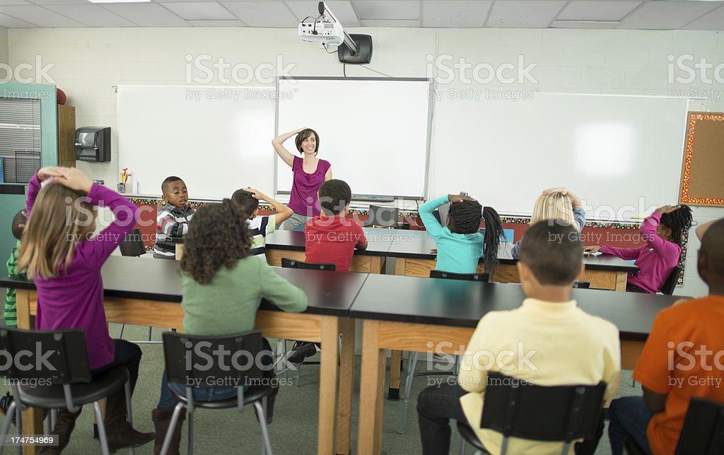 2nd-3rd grade classroom royalty-free stock photo