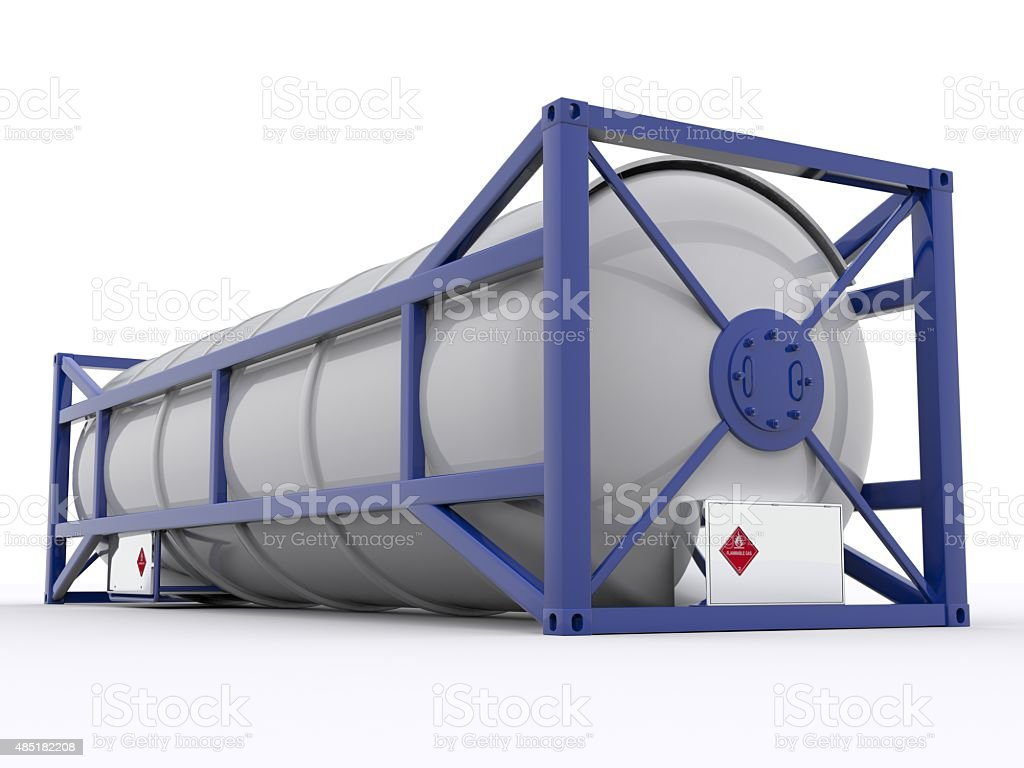 30ft gas tank container stock photo