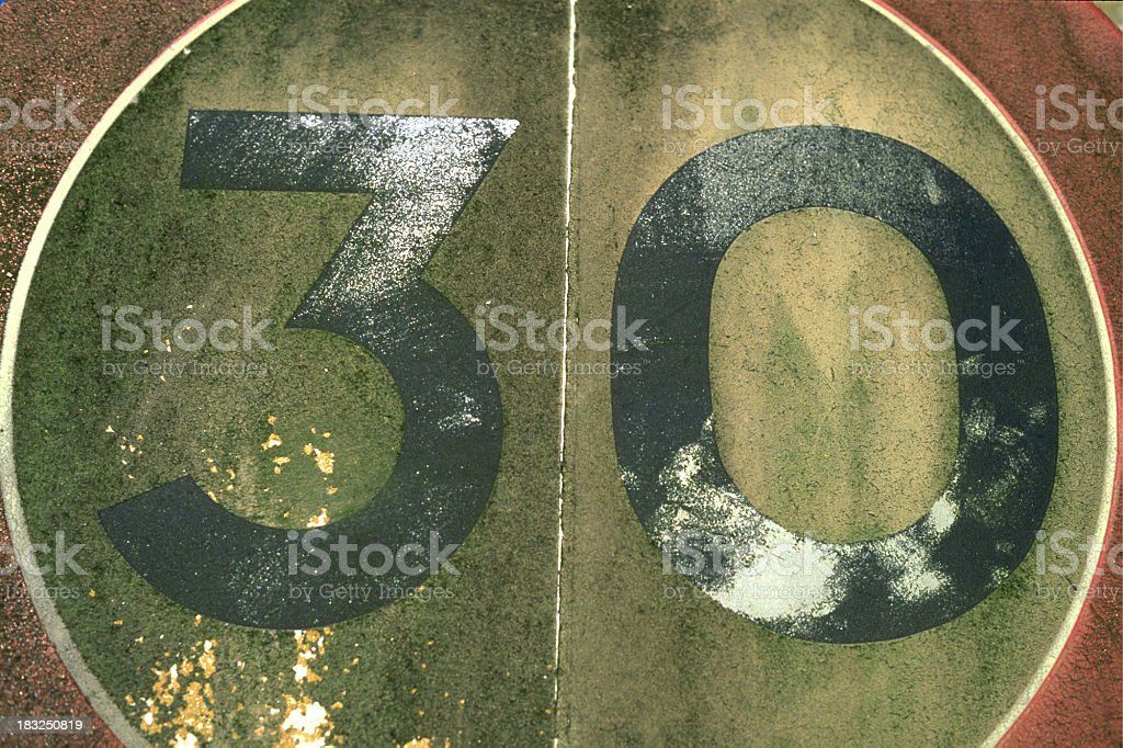 30mph Speed Sign stock photo