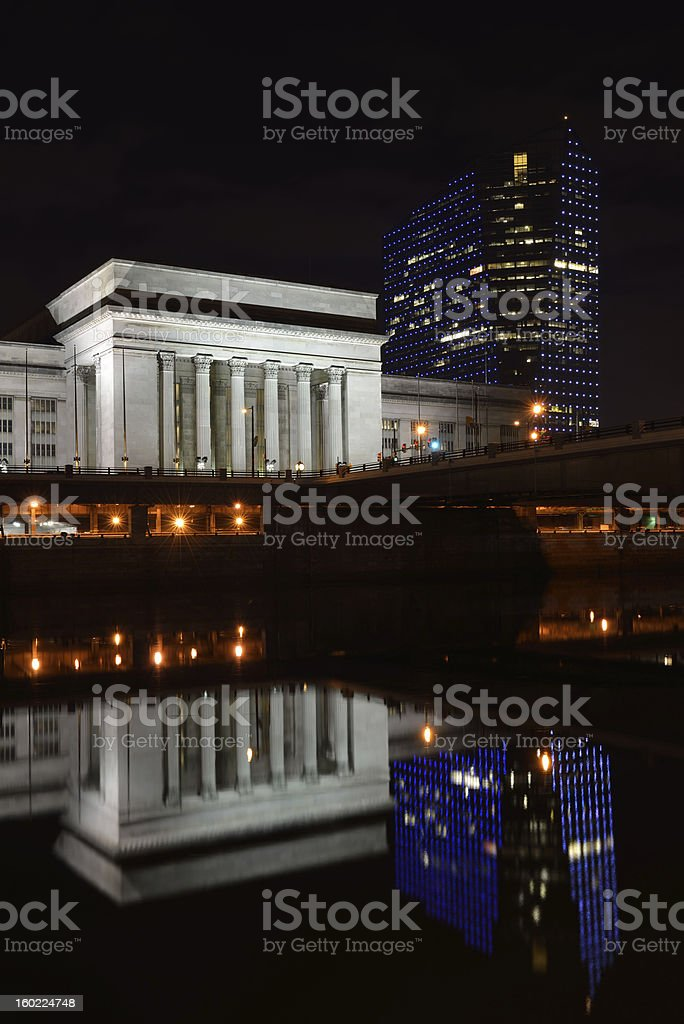 30th Street Station in Philadelphia royalty-free stock photo