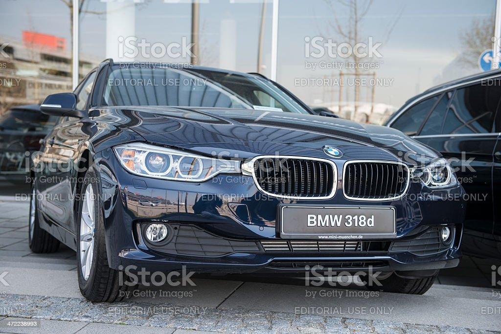 BMW 318d 2013 (E90) stock photo