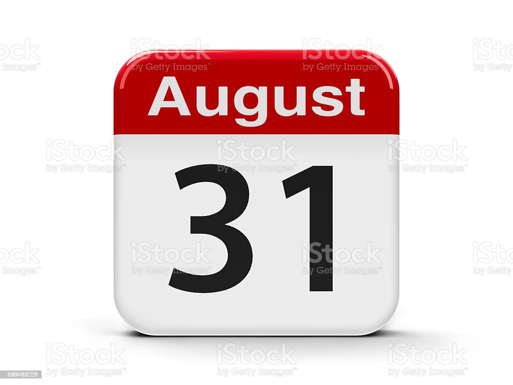 31st August stock photo